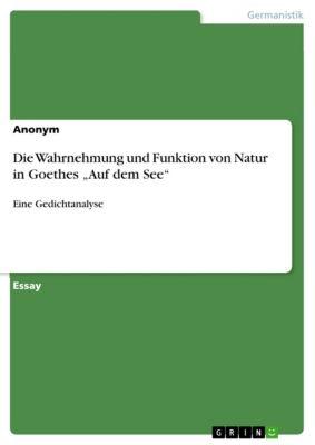 """Die Wahrnehmung und Funktion von Natur in Goethes """"Auf dem See"""""""