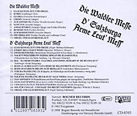 Die Waldler Messe/D'Salzburga arme Leut' Mess' - Produktdetailbild 1