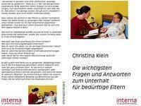 Die wichtigsten Fragen und Antworten zum Unterhalt für bedürftige Eltern, Christina Klein