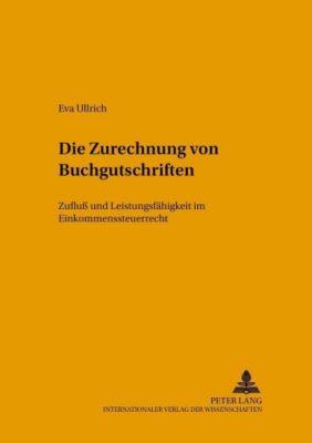 Die Zurechnung von Buchgutschriften, Eva Ullrich