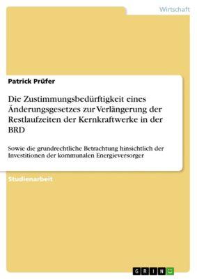 Die Zustimmungsbedürftigkeit eines Änderungsgesetzes zur Verlängerung der Restlaufzeiten der Kernkraftwerke in der BRD, Patrick Prüfer