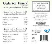 Die Zwei Quartette Für Klavier & Streicher - Produktdetailbild 1