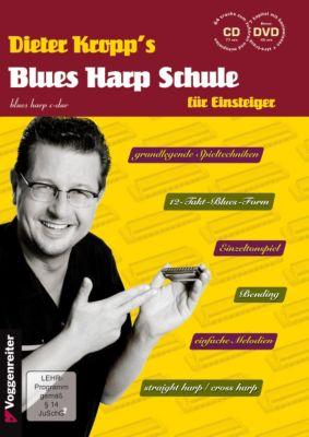 Dieter Kropp's Blues Harp Schule, m. Audio-CD u. DVD, Dieter Kropp