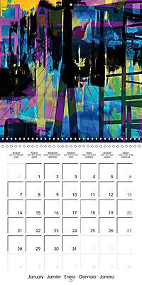 digital abstract art (Wall Calendar 2019 300 × 300 mm Square) - Produktdetailbild 1