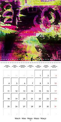 digital abstract art (Wall Calendar 2019 300 × 300 mm Square) - Produktdetailbild 3