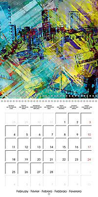 digital abstract art (Wall Calendar 2019 300 × 300 mm Square) - Produktdetailbild 2