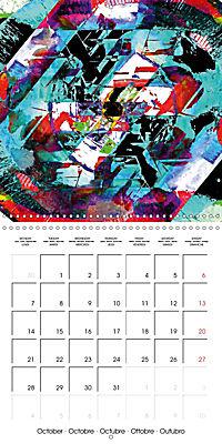 digital abstract art (Wall Calendar 2019 300 × 300 mm Square) - Produktdetailbild 10