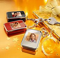"""Digitales Fotoalbum """"Deluxe"""" mit Schlüsselanhänger (Farbe: schwarz) - Produktdetailbild 2"""
