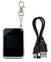 """Digitales Fotoalbum """"Deluxe"""" mit Schlüsselanhänger (Farbe: schwarz) - Produktdetailbild 1"""