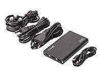 DIGITUS Universal Travel USB Ladestation 40W 2x USB A Schnellladung 3.0 1x USB C 3 Netzkabel (EU/US/UK),schwarz - Produktdetailbild 1