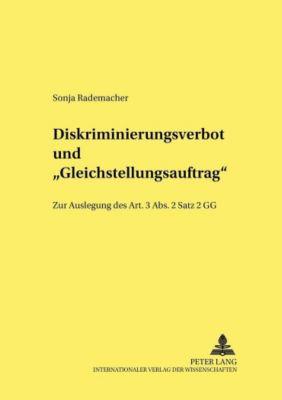 Diskriminierungsverbot und «Gleichstellungsauftrag», Sonja Rademacher