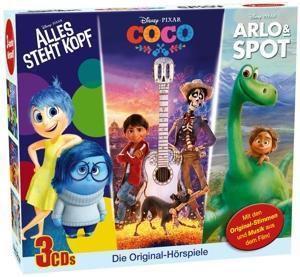 Disney - Arlo&Spot / Alles steht Kopf / Coco, 3 Audio-CDs, Walt Disney, Pixar