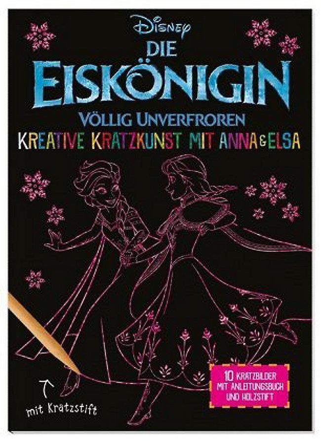 Sehr Disney Die Eiskönigin: Kreative Kratzkunst mit Anna und Elsa Buch FJ21