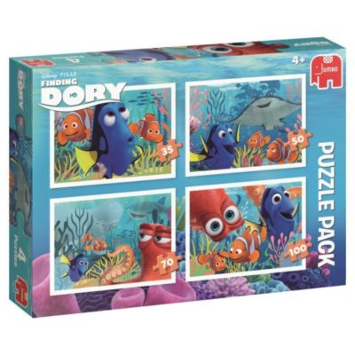 Disney Finding Dory (Kinderpuzzle), 4 in 1 Bumper Pack