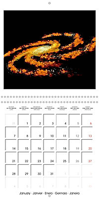 Distant galaxies - Endless space and mysterious star clusters (Wall Calendar 2019 300 × 300 mm Square) - Produktdetailbild 1