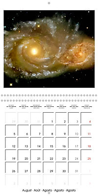Distant galaxies - Endless space and mysterious star clusters (Wall Calendar 2019 300 × 300 mm Square) - Produktdetailbild 8