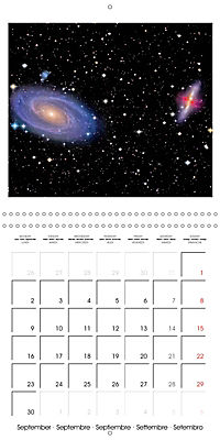 Distant galaxies - Endless space and mysterious star clusters (Wall Calendar 2019 300 × 300 mm Square) - Produktdetailbild 9