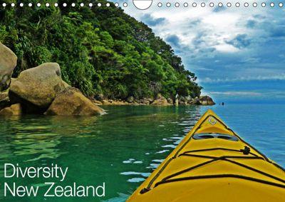 Diversity New Zealand / UK-Version (Wall Calendar 2019 DIN A4 Landscape), Nico Schaefer