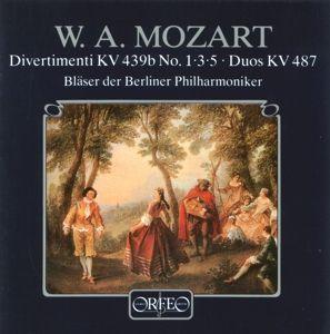 Divertimenti Kv 439b 1,3,5/Zwölf Duos Kv 487, Bläser Der Berliner Philharmoniker