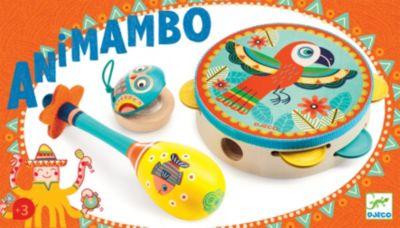 Djeco - Tamburin, Maracas, Kastagnette - 3tlg. Instrumenten Set