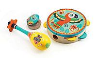 Djeco - Tamburin, Maracas, Kastagnette - 3tlg. Instrumenten Set - Produktdetailbild 1