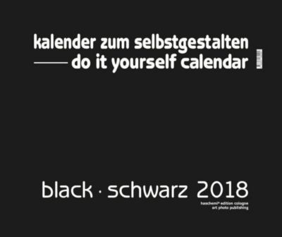 do it yourself calendar, black/schwarz 2013