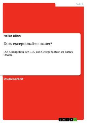 Does exceptionalism matter?, Haike Blinn