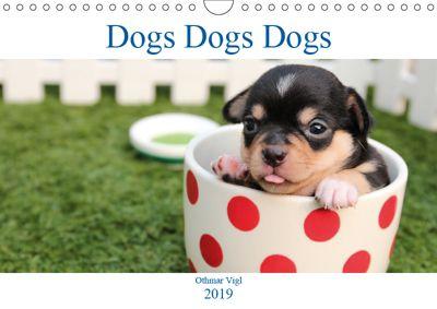 Dogs Dogs Dogs (Wall Calendar 2019 DIN A4 Landscape), Othmar Vigl