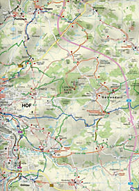 Doktor Barthel Karte Bayerisches Vogtland, Hof, Rehau und Umgebung - Produktdetailbild 2
