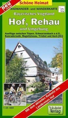 Doktor Barthel Karte Bayerisches Vogtland, Hof, Rehau und Umgebung