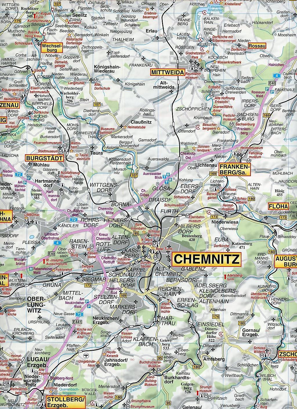 Chemnitz Karte.Doktor Barthel Karte Chemnitz Erzgebirge Und Umgebung Buch