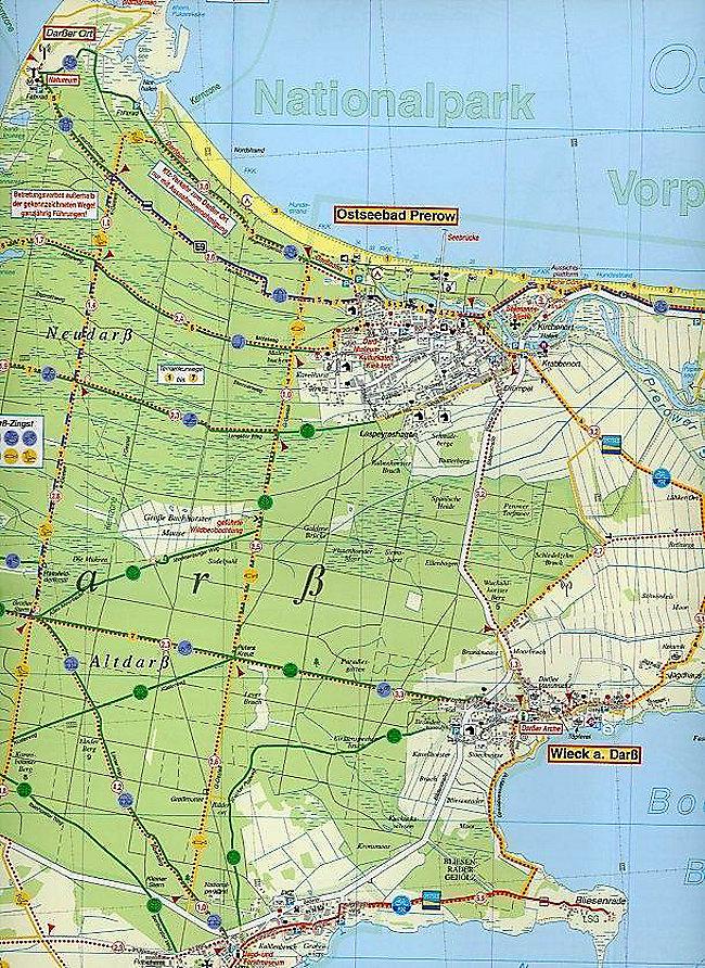 Fischland Darß Zingst Karte.Doktor Barthel Karte Fischland Darß Zingst Und Umgebung Buch