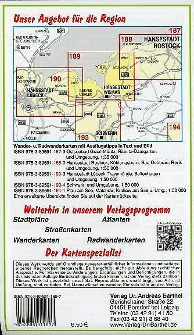 Karte Insel Poel Und Umgebung.Doktor Barthel Karte Hansestadt Wismar Insel Poel