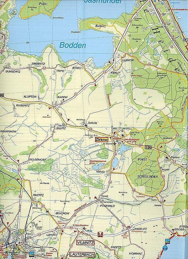 Rügen Karte.Doktor Barthel Karte Insel Rügen Bergen Göhren Baabe Binz