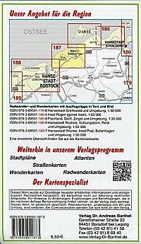 Doktor Barthel Karte Ostseebad Graal-Müritz, Ribnitz-Damgarten und Umgebung - Produktdetailbild 1