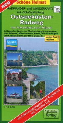 Doktor Barthel Karte Ostseeküsten-Radweg von Travemünde nach Ahlbeck - Verlag Dr. Barthel |