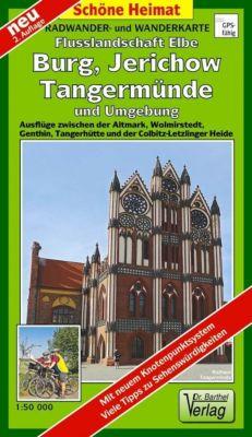 Doktor Barthel Karte Radwander- und Wanderkarte Flusslandschaft Elbe, Burg, Jerichow, Tangermünde und Umgebung