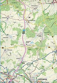 Doktor Barthel Karte Schleiz, Gefell, Burgsteingebiet und Umgebung - Produktdetailbild 2