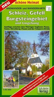 Doktor Barthel Karte Schleiz, Gefell, Burgsteingebiet und Umgebung