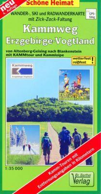 Doktor Barthel Karte Wander-, Ski- und Radwanderkarte Kammweg Erzgebirge-Vogtland -  pdf epub