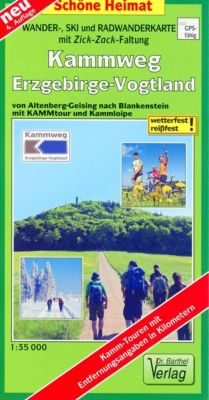 Doktor Barthel Karte Wander-, Ski- und Radwanderkarte Kammweg Erzgebirge-Vogtland