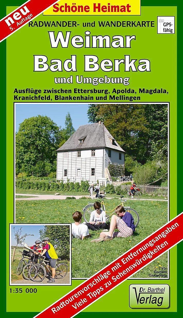 Karte Weimar Und Umgebung.Doktor Barthel Karte Weimar Bad Berka Und Umgebung Buch Kaufen