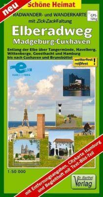 Doktor Barthel Radwander- und Wanderkarte mit Zick Zack Faltung Elberadweg, Magdeburg-Cuxhaven - Verlag Dr. Barthel pdf epub