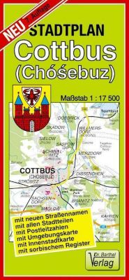 Doktor Barthel Stadtplan Cottbus (Chósebuz)