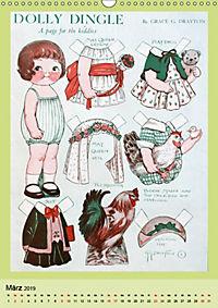 Dolly Dingle Kalender - Anziehpuppen von Grace G. Drayton (Wandkalender 2019 DIN A3 hoch) - Produktdetailbild 3