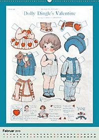 Dolly Dingle Kalender - Anziehpuppen von Grace G. Drayton (Wandkalender 2019 DIN A2 hoch) - Produktdetailbild 2
