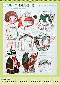 Dolly Dingle Kalender - Anziehpuppen von Grace G. Drayton (Wandkalender 2019 DIN A2 hoch) - Produktdetailbild 3