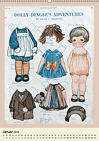 Dolly Dingle Kalender - Anziehpuppen von Grace G. Drayton (Wandkalender 2019 DIN A2 hoch) - Produktdetailbild 1