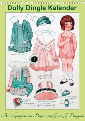 Dolly Dingle Kalender - Anziehpuppen von Grace G. Drayton (Tischkalender 2019 DIN A5 hoch), Karen Erbs