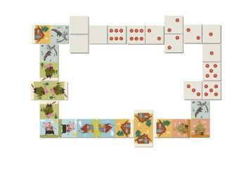 Domino - Three Little Pigs (Kinderspiel)